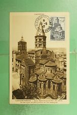 DR WHO 1947 FRANCE CLERMONT FERRAND MAXIMUM CARD SEMI POST  g19475