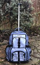 Travelon Wheelie Backpack Pull Along Cabin Luggage Travel Case Flight Bag Blue