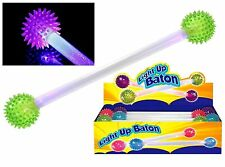 Light Up LED Flashing Spikey Ball Double Baton Disco Party Glow Rave Sensory Toy