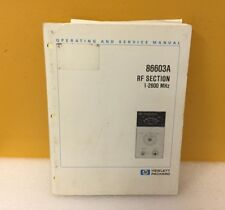Hp / Agilent 86603-90023 86603A Rf Section Operating + Service Manual