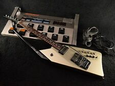 1980's Roland G-707 GR-700 Electric Guitar Synthesizer Japan Vintage Silver w/HC