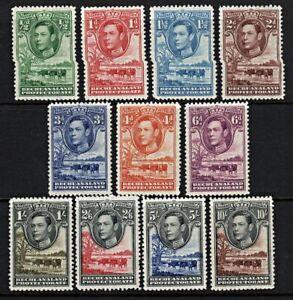 2134 BECHUANALAND: SG118/28 FULL Set of 11. KGVI 1938. LMM Mint. c£110
