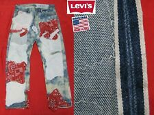 VINTAGE ORIGINAL LEVI'S 501 RED TAB REDLINE SELVEDGE DENIM JEANS USA 32x29 32x28