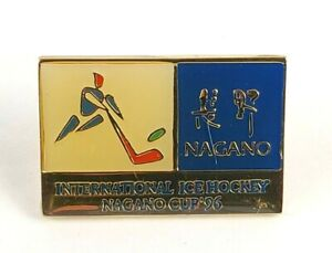Vintage 1996 NAGANO Cup International Ice Hockey Pin / Badge