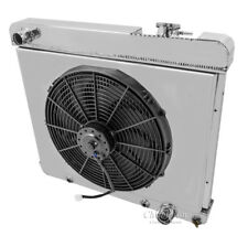 "1963,1964,1965,1966 Chevy Pickup Truck Radiator  & Dual 12"" Fans Champion 2-Row"