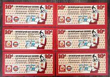 Lot of 6x Vintage Drummondville Provi Soir Cash Bonus 10 Cents Coupons