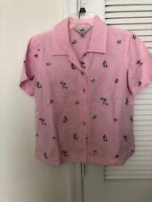 Women's size S Small AKS Amy K Su Fashion Lady  button front shirt