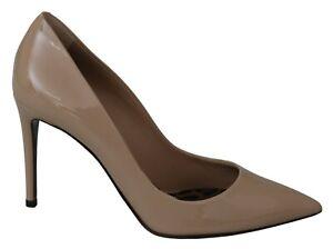 DOLCE & GABBANA Shoes Beige Nude Leather High Heels Pumps EU40 / US9.5 RRP $800