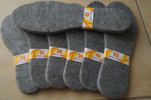 NEU Filz Winter Einlegesohlen Schuheinlagen Filzsohlen 1 Paar  dicke ca.4-5 mm
