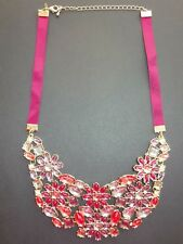 Romilly Bib Statement Necklace by Avon NEW in Gift Box  Red Pink Purple