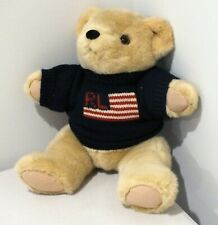 POLO RALPH LAUREN BROWN BEAR 1996 NAVY BLUE SWEATER PLUSH DOLL