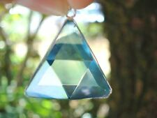 VOGEL in High Grade Aqua Aura Quartz VOGEL Triangle Pendant- Energy Mover