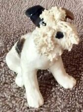 Wire Fox Terrier Spag Seated 2 x2 - Lot Ft3
