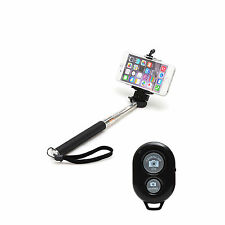 Selfie Extendable Monopod with Bluetooth Shutter remote for iPhone Samsung HTC