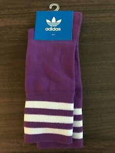 Adidas socks womens  size 6-8 1/2 crew socks purple New!