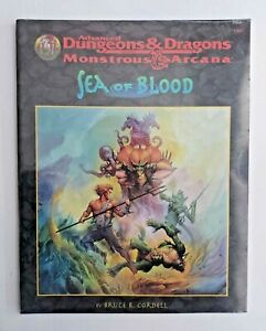 Advanced Dungeons & Dragons Monstrous Arcana Sea of Blood SC SEALED #9560 TSR