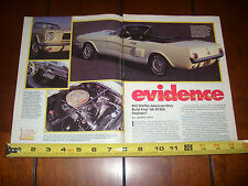 1966 SHELBY GT350 CONVERTIBLE MUSTANG - ORIGINAL 1993 ARTICLE