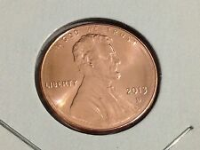 Uncirculated 2013-D Hand Picked From Rolls To Be The Best. BU Lincoln Penny