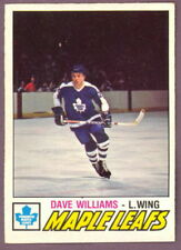 1977 78 OPC O PEE CHEE 383 DAVE WILLIAMS MAPLE LEAFS NM HOCKEY CARD