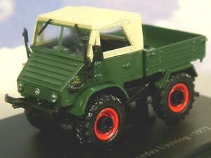 SUPERB DETAIL U/H HACHETTE DIECAST 1/43 1972 MERCEDES UNIMOG TRACTOR GREEN TR30