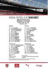 Teamsheet - Arsenal v Chelsea 2014/15