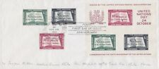 Un New York FDC Block 1I And 39 - 41, Postmarked 1955, First Day Cover