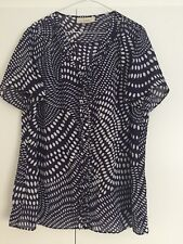 Anne Harvey Polyester Blouse Top Purple White Spots Size 18 Bust 44