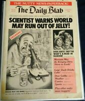 """The Daily Blab Rare 1981 """"Mad""""Type Humor/Satire Book some damage (see pictures)"""