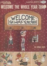 Leisure Arts Welcome the Whole Year Thru cross stitch pattern - 1993