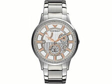 Emporio Armani Men's Watch Silver 28 Jewels MECCANICO AUTOMATIC AR4668 $445