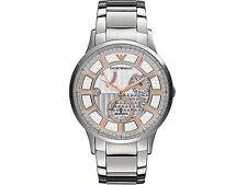 Emporio Armani Men's Watch Silver 28 Jewels MECCANICO AUTOMATIC AR4668 $445