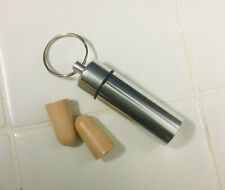 Pillow Soft Ear Plugs With Metal case With Key ring