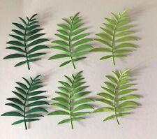 die cut shapes - green leaves - card making/ scrapbook