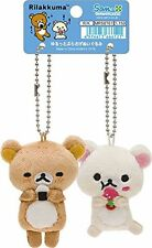 San-X MR-58701 Rilakkuma Korilakkuma Makumaku Plush Doll Key Chain