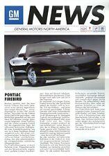 GM News Prospekt 1994 D brochure Seville STS Eldorado Corvette Blazer Trans Am
