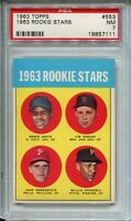 1963 Topps Baseball #553 Willie Stargell Rookie Card RC Graded PSA Nr MINT 7