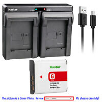 Kastar Battery Slim Dual Charger for Sony NP-BG1 NP-FG1 BC-CSG BC-CSGD BC-CSGE