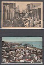 T337) Algerien/Tunesien: 3 alte gelaufende Ansichtskarten, 30er Jahre! 4 Scans!