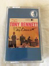 Tony Bennett LEGEDNARY Singer HAND SIGNED Cassette COVER Beat of My Heart w/COA