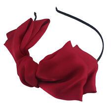 Lady Girl Big Bowknot Ribbon Hair Accessory Headband Hairband Bow Head Band Clip