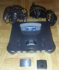 N64 Console System with Clear Controller Jumper Pack Hybrid Heaven Power Av Cord