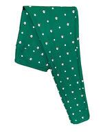 LuLaRoe Holiday OS Leggings #1925 - Santa's & White Dots on Green - One Size