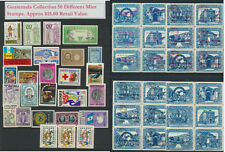 Guatemala Mint NH Collection 50 Different Airs, Commems, Older Approx $15.Retail