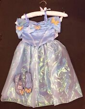 NWT Disney Store Sz 4 4T Deluxe Cinderella Live Action Costume & Size 9/10 Shoes