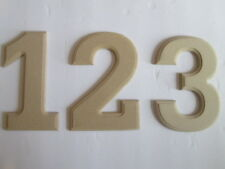 "WOOD NUMBERS FOR OFFICE/HOUSE ETC. 6"" L x 1/4"" THICK from 1 to 10. PER LOT OF 3*"