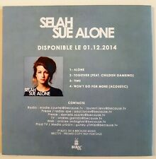 SELAH SUE ALONE : ALONE EP (inc. ACOUSTIC MIX)  ♦ French CD Single Promo ♦