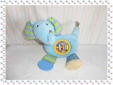 E - Peluche Activité Boulier Anneau Dentition  Eléphant Bleu Bruin - Toys R Us