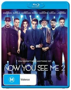 Now You See Me 2 (Bluray) New & Sealed, Region: B