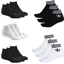 Adidas Mens Womens 3 Pairs Socks Trefoil Ankle Low Cut No-Show Sock Pack