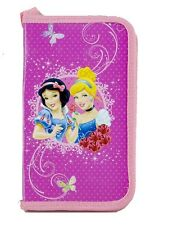 Disney Princess Filled Pencil Box With Strap Carrying Holder For 3+ Girls New